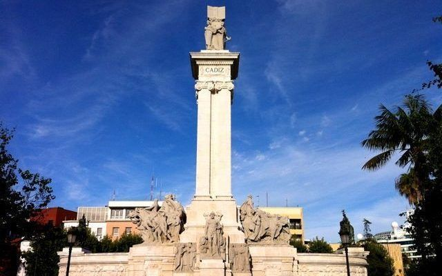 Plaza de España y Monumento a las Cortes